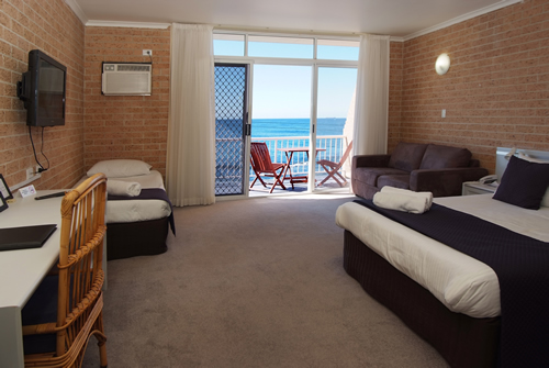 Ocean View Rooms accommodate 2-4 persons